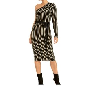 NWT Rachel Roy Belted One-Shoulder Sweater dress